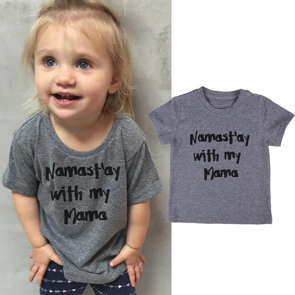 Namaste With My Mama Kids T-Shirt-GoGetGlam