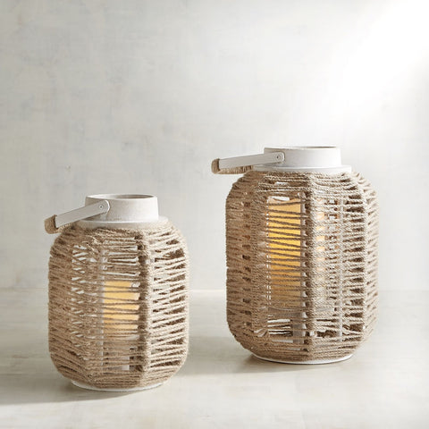 Large Wrapped Rope Lantern-GoGetGlam