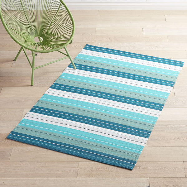 Waterproof Outdoor Blue Striped 4x6 Rug-GoGetGlam