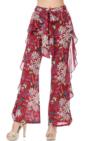 Garden Party Floral Pants-GoGetGlam