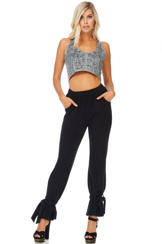 Isabella Ankle Tie Comfort Fit Pants-GoGetGlam