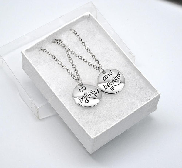 Infinity Best Friends 2 PC Chain Charm Necklace SET - GoGetGlam Boho Style