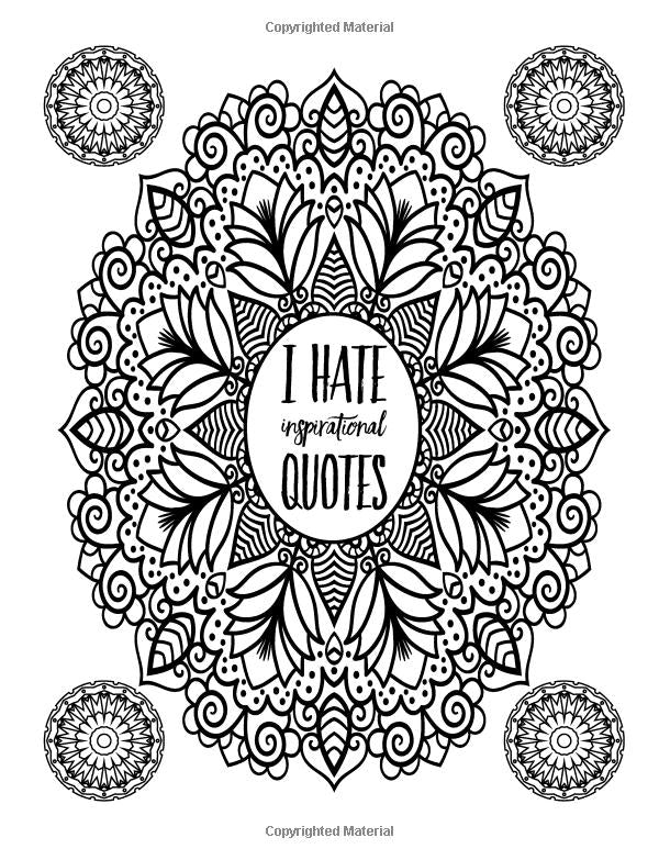 A Snarky Mandala Adult Coloring Book Previous