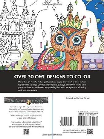 Adult Coloring Book: OWLS - GoGetGlam Boho Style