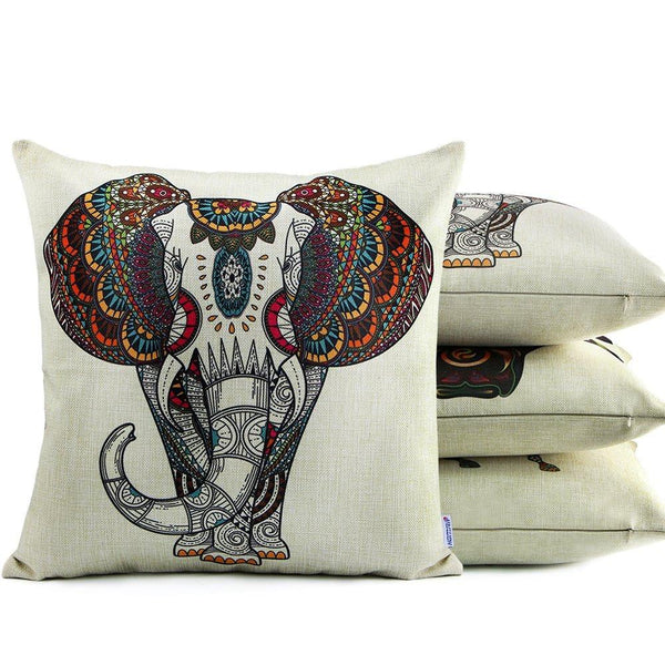 Africa Originals Tribal Elephant Throw Pillow-GoGetGlam