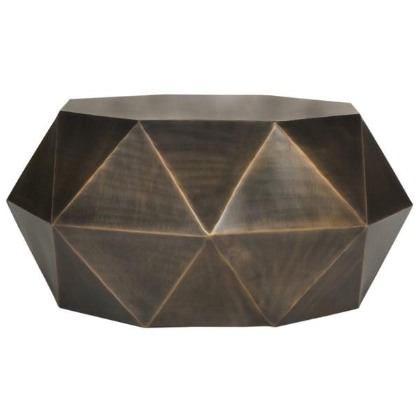 Aiden Copper Drum Coffee Table GoGetGlam - Copper drum coffee table
