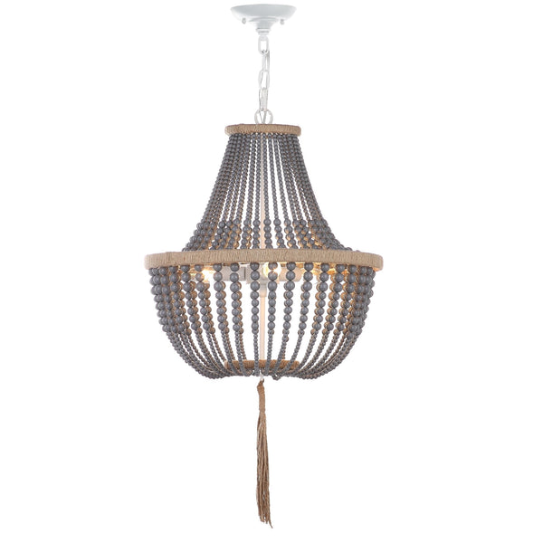 Adjustable 3-Light Bohemian Beaded Pendant Lamp