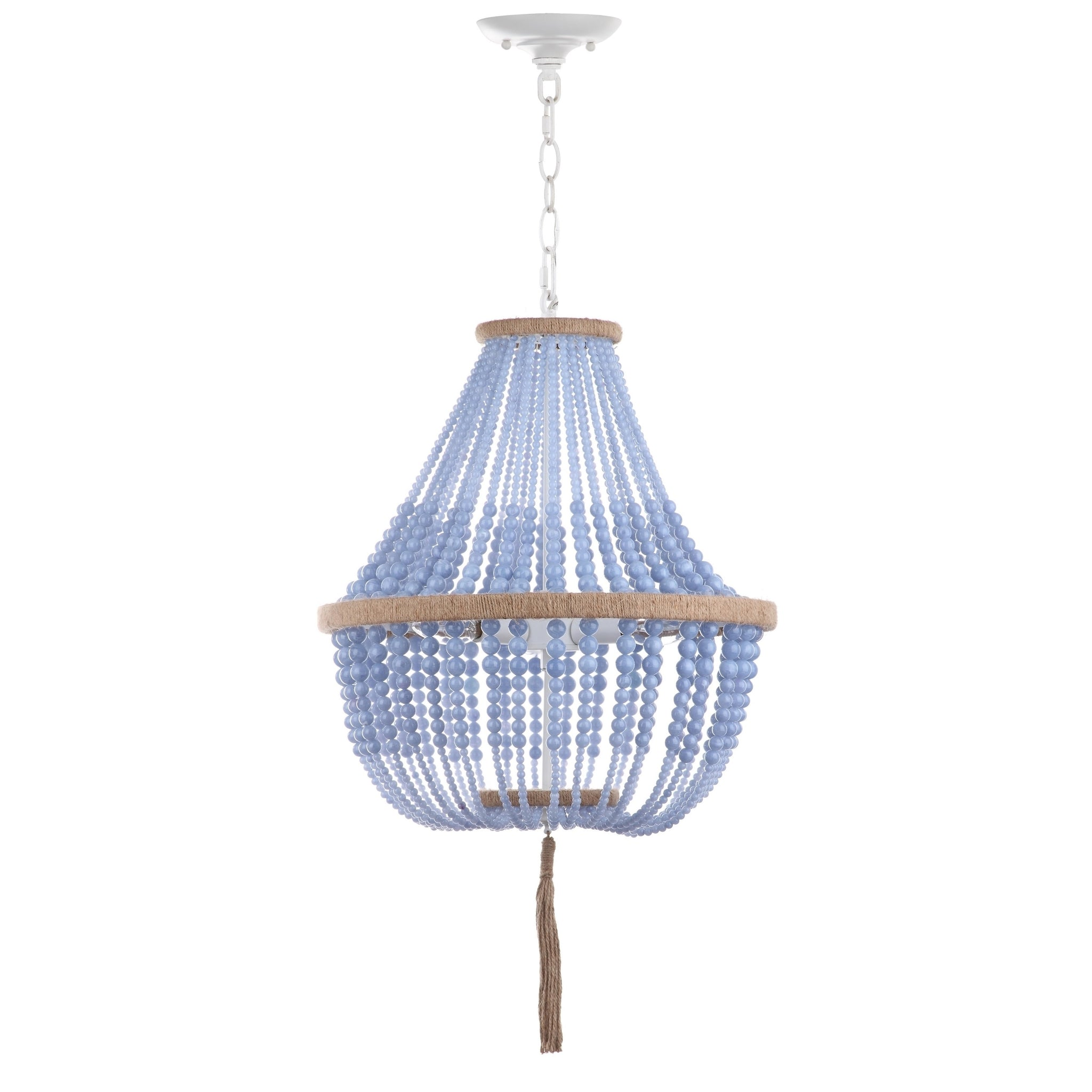 Adjustable 3-Light Bohemian Beaded Pendant Lamp-GoGetGlam