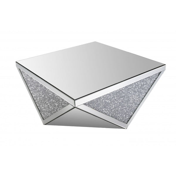 Mirrored Crushed Crystal Coffee Table - GoGetGlam Boho Style