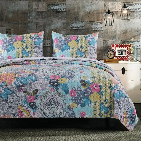 Boho Bungalow Maxie Quilt Set - Boho Bohemian Decor