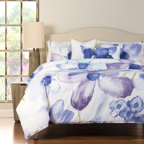 Watercolor Orchids Luxury 6-piece Duvet Set