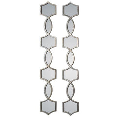 Alexis Linear Silver Wall Mirror Set-GoGetGlam
