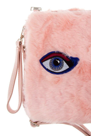 All Eyes On You Pink Fur Messenger Handbag - GoGetGlam Boho Style