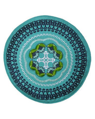 ANTHOLOGY Boho Embroidered Round Throw Pillow-GoGetGlam