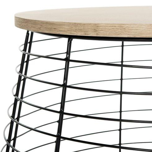 Arivilla Boho Modern Style Drum Coffee Table-GoGetGlam