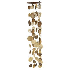 Artisan Crafted 3FT Long Capiz Shell Boho Wind Chime-GoGetGlam
