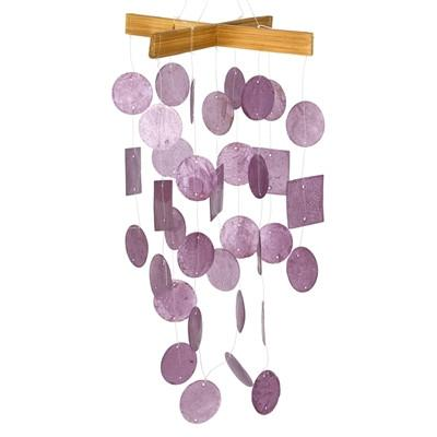 Artisan Crafted Capiz Shell Wind Chime in 4 Colors-GoGetGlam