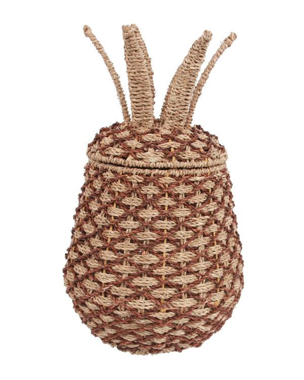 Artisan Large Pineapple Shaped Woven Basket - GoGetGlam Boho Style