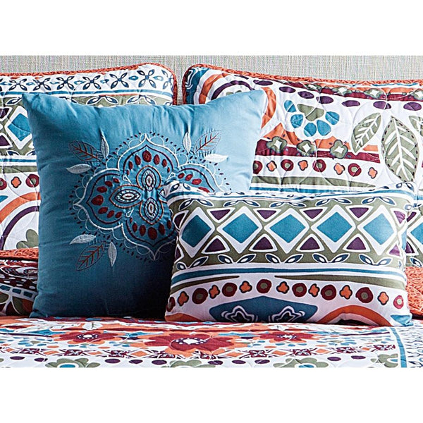 Ascia Boho 5PC Reversible Quilt & Pillows Set-GoGetGlam