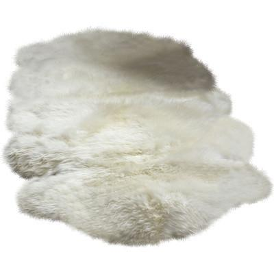 "Australian Farm Genuine Sheepskin Ivory Mix Flokati Rug (5'6"" x 2') - Boho Bohemian Decor"