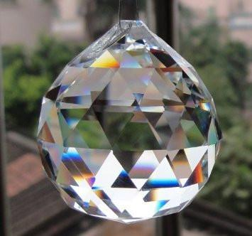 Austrian Swarovski Crystal Rainbow Maker Hanging Faceted Ball-GoGetGlam