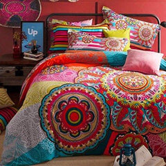 Averleigh Boho Bohemian 4 PC Queen Duvet Bedding SET-GoGetGlam