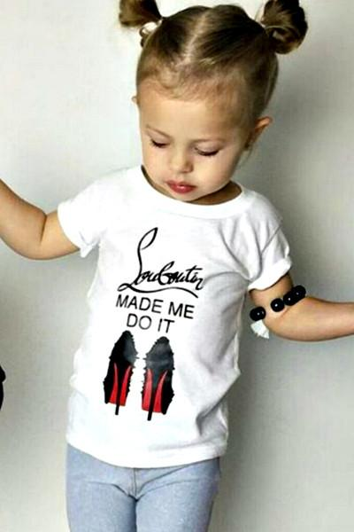 Baby Girls Louboutin Made Me Do It T-Shirt - Boho Bohemian Decor