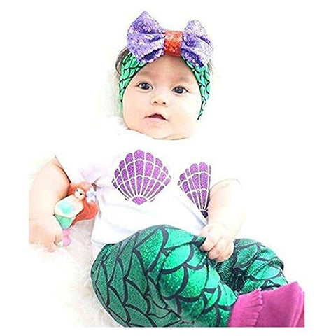 Baby Girls Mermaid Outfit - Boho Bohemian Decor