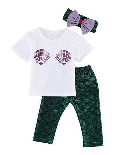 Baby Girls Mermaid Outfit-GoGetGlam