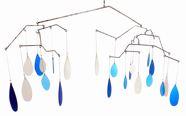 Bali Artisan Raindrops Kinetic Art Mobile-GoGetGlam