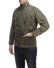 BARBOUR International Men's Horace Jacket in Olive