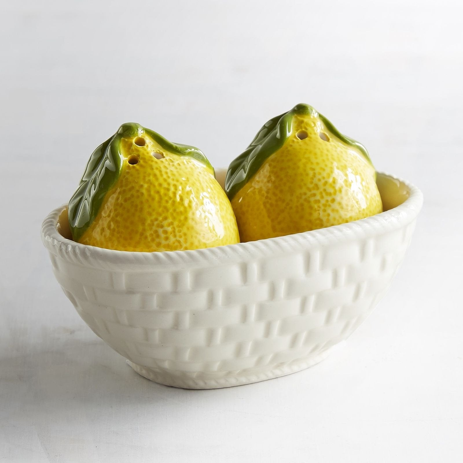 Basket of Lemons Salt & Pepper Shaker SET-GoGetGlam