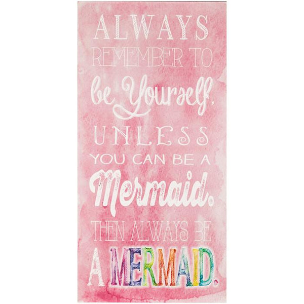 Be A Mermaid Pink Canvas Wall Art-GoGetGlam