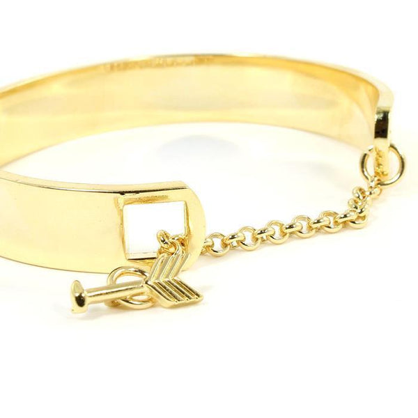 Be Brave Keep Going Gold Inspiration Bracelet-GoGetGlam