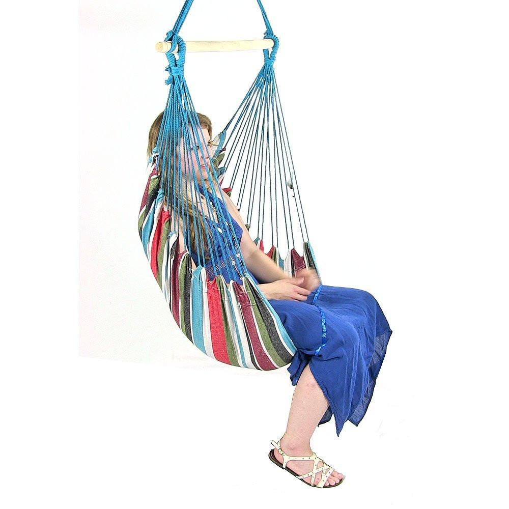 Beach Breeze Cushioned Hanging Hammock Chair-GoGetGlam