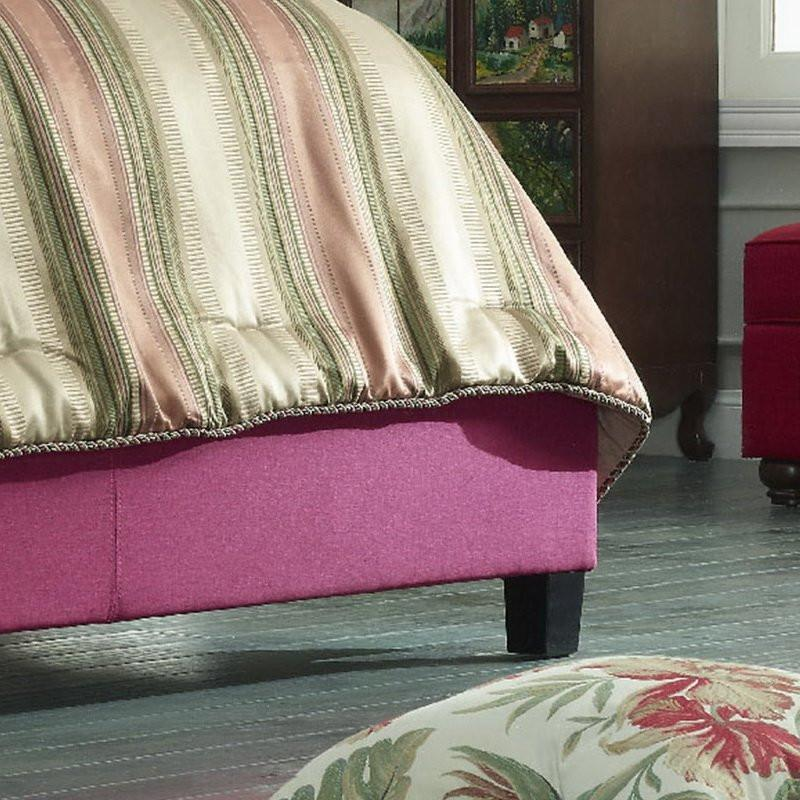 Becker Upholstered Wingback Panel Bed in Pink-GoGetGlam