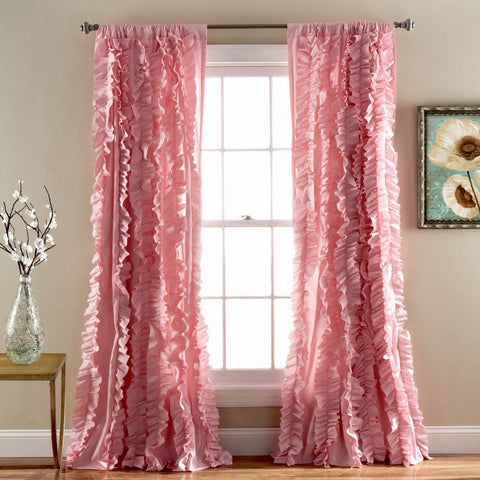 Bellamie Boho Romantic Ruffle Window Curtain Panel SET-GoGetGlam
