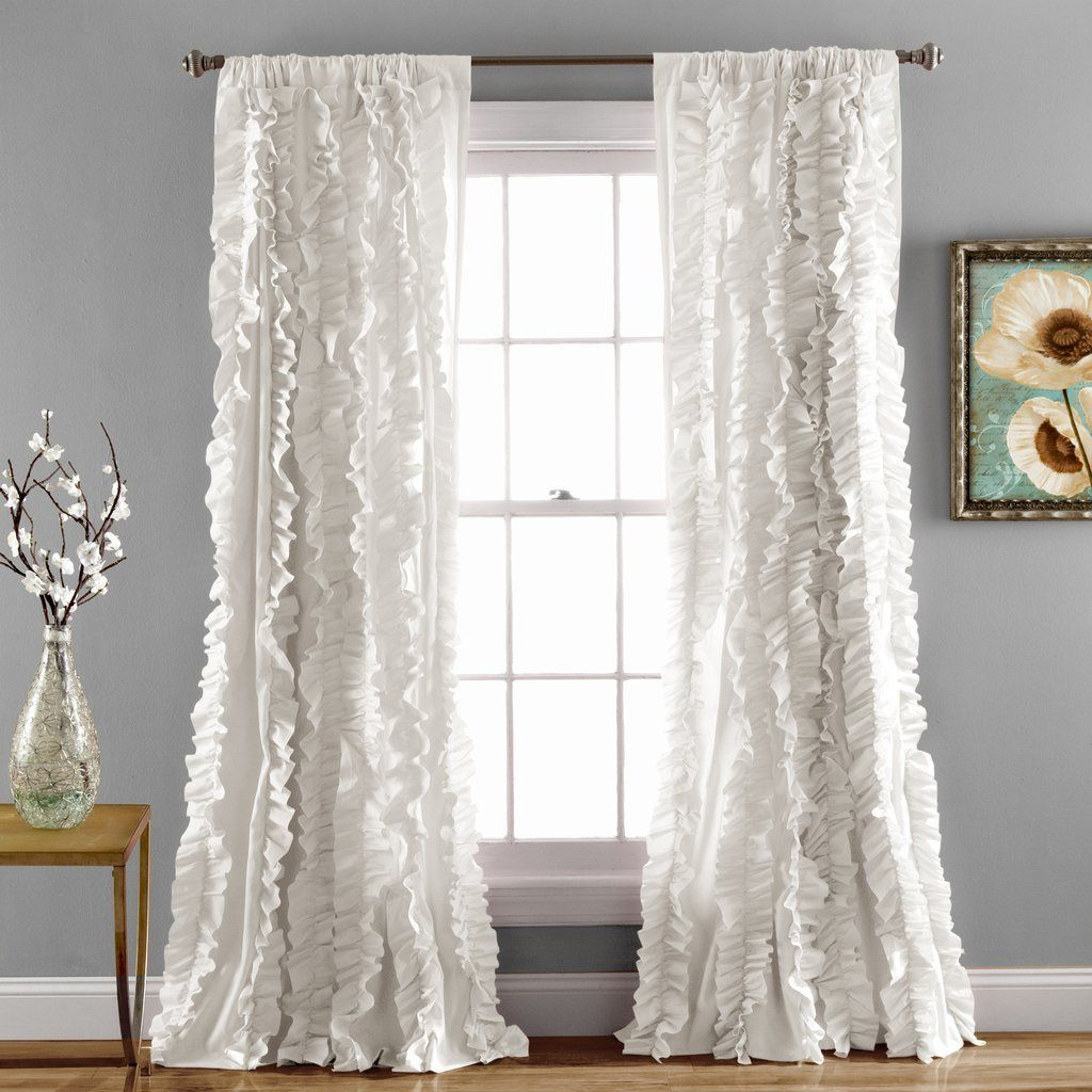 lined bottom size sheer blush full panels aura white inch of ruffle pink blackout curtains curtain