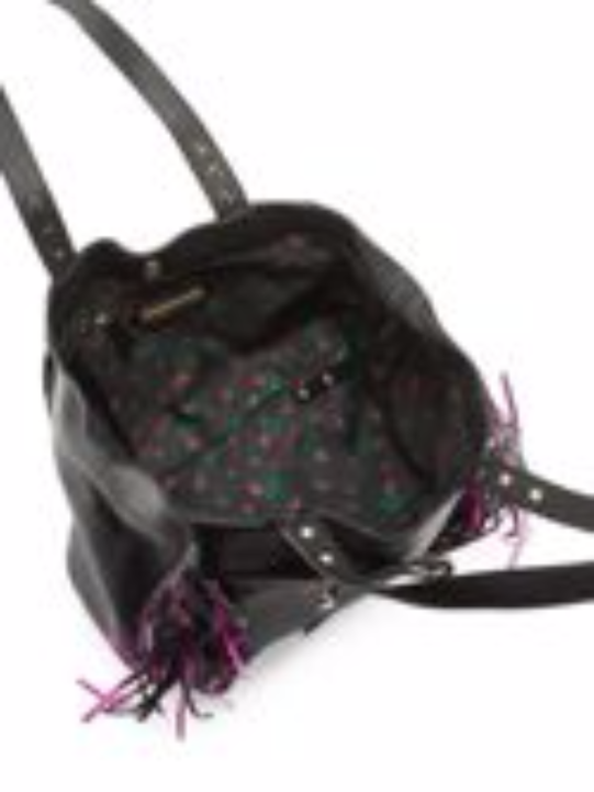 Betsey Johnson Purple Fringe Handbag-GoGetGlam