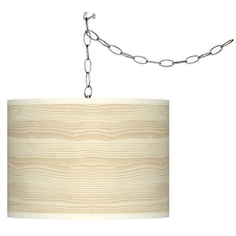 Birch Shade Swag Plug-In Pendant Chandelier-GoGetGlam