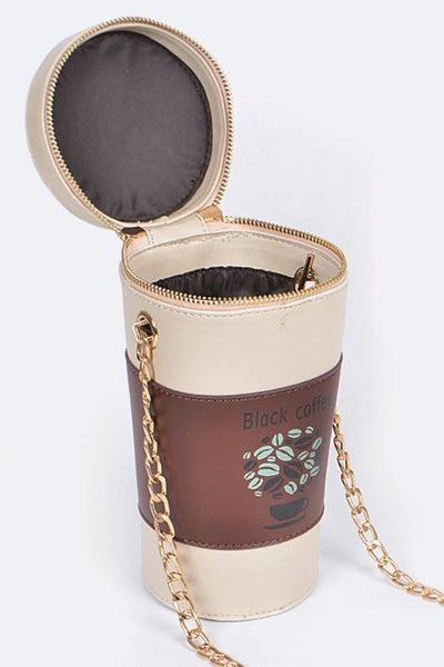 Black Coffee Crossbody Handbag-GoGetGlam