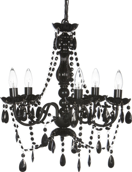 Blakely Black Acrylic Crystal Boho Gypsy Chandelier in 3 Sizes - GoGetGlam Boho Style