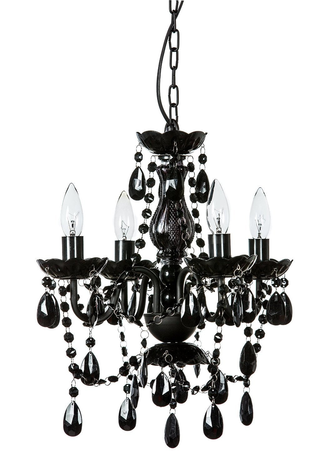 Blakely Black Acrylic Crystal Boho Gypsy Chandelier In 3 Sizes Gogetglam Style