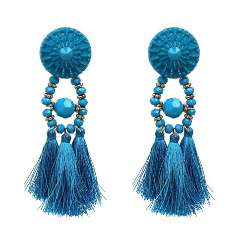 Bohemian Belle Tassel Earrings - Boho Bohemian Decor