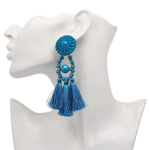 Bohemian Belle Tassel Earrings-GoGetGlam