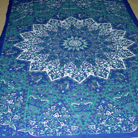 Bohemian Blue Green Wall Tapestry-GoGetGlam