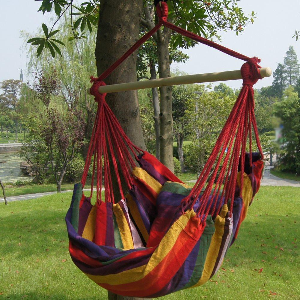Bohemian Boho Striped Hammock Hanging Chair-GoGetGlam