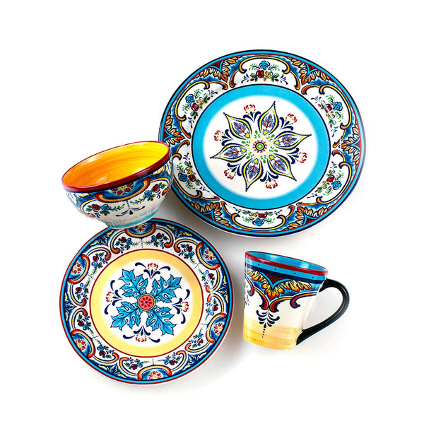 Bohemian Festival 16 Piece Dinnerware Set - Boho Bohemian Decor