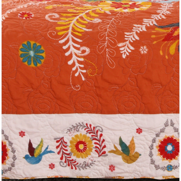 Bohemian Folk Art Gypsy Quilt Bed Set - Boho Bohemian Decor