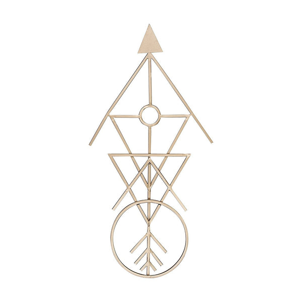 Bohemian Geometric Arrow Metal Wall Art-GoGetGlam